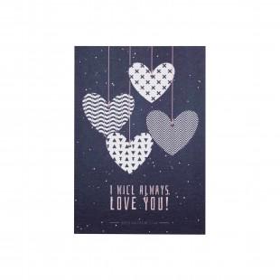 """Открытка """"I will always love you"""" сердца"""