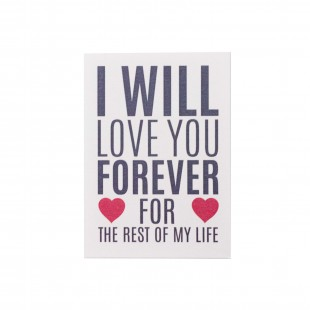"Открытка ""I will love you forever for the rest of my life"""