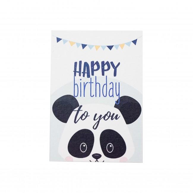 """Открытка """"Happy Birthday to You"""" панда"""