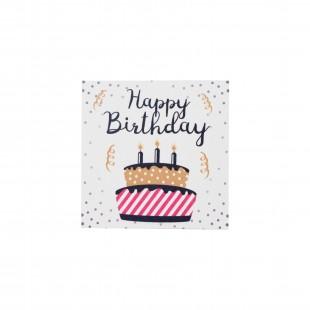 """Открытка """"Happy Birthday"""" тортик"""