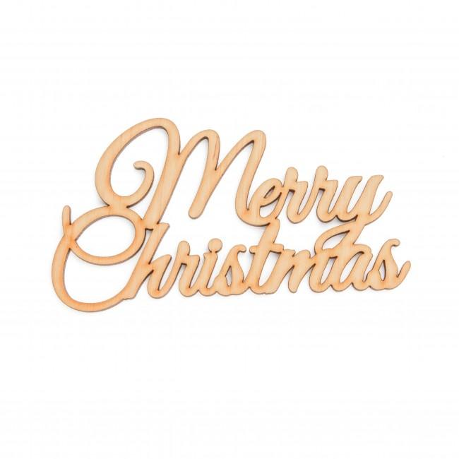 "Деревянная табличка ""Merry Christmas"""
