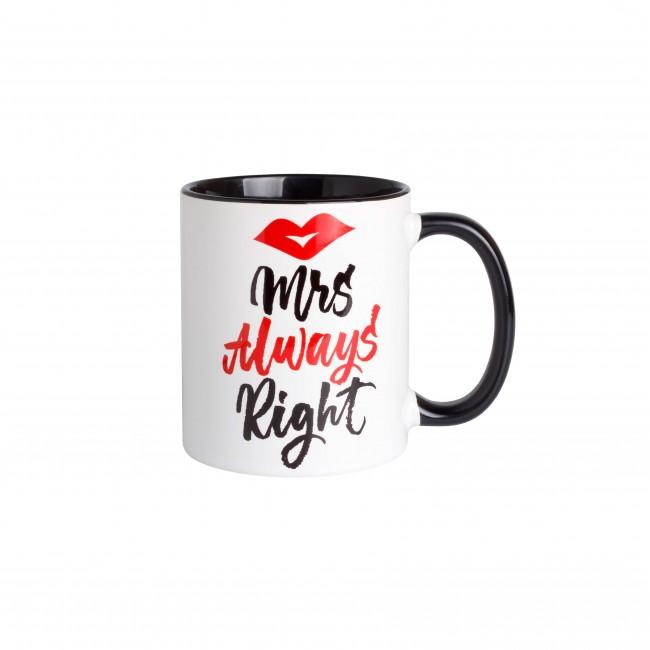 """Чашка """"Mrs Always Right"""""""