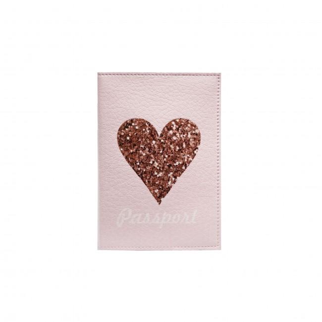 "Обложка на паспорт ""Блестящее сердце"""