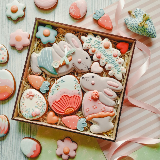 """Подарочный набор печенья """"З Великоднем"""""""
