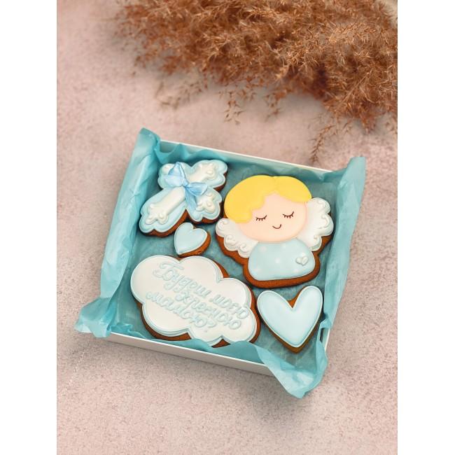 """Подарочный набор печенья """"Запрошення бути хрещеними батьками"""" мини"""