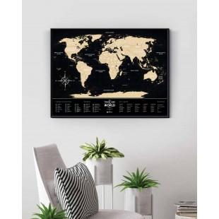 "Скретч Карта Мира ""Travel Map Black"""