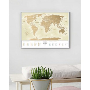 "Скретч Карта Мира ""Gold World"""