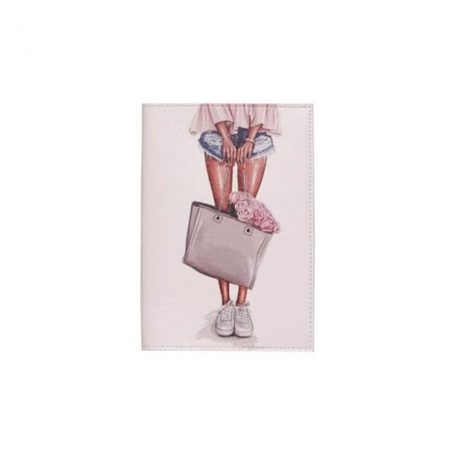 """Обложка на паспорт """"Девочка с сумочкой"""""""