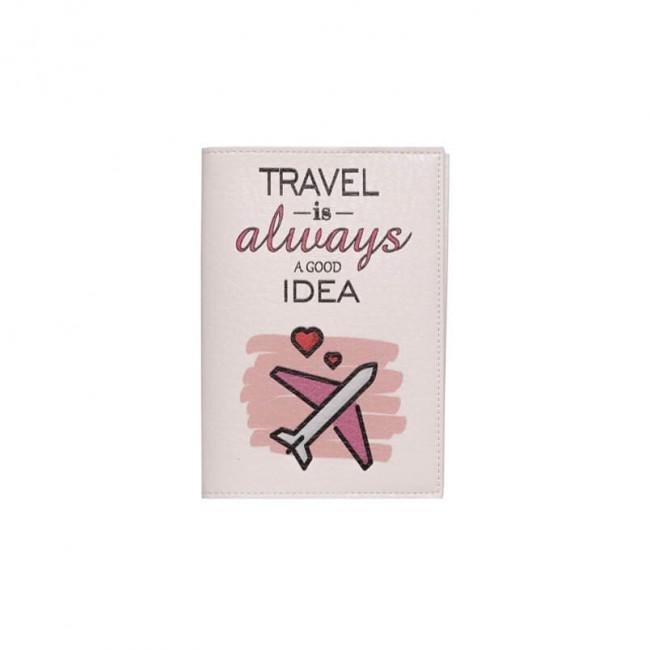 """Обложка на паспорт """"Travel is always a good idea"""""""