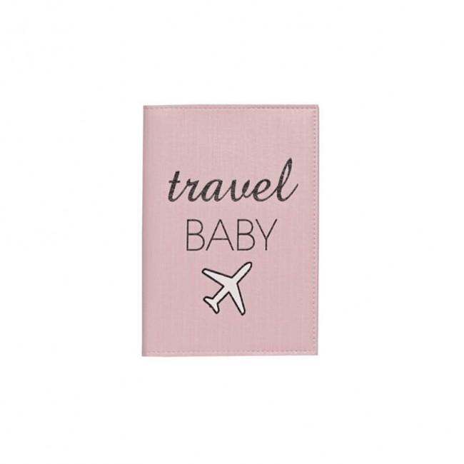 "Обложка на паспорт ""Travel baby"" розовая"