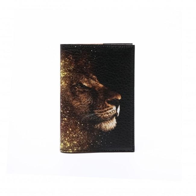 """Обложка на паспорт """"Профиль Льва"""""""